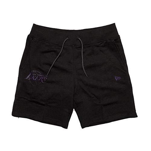New Era NBA Team App Pop Logo Short Kurze Hose loslak Linie Los Angeles Lakers, Unisex Erwachsene, Grau (HGP)