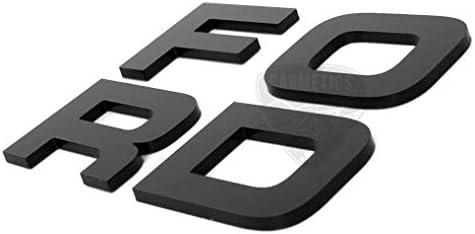 CarMetics Ford 3D Letters Stickers Decals Logo Emblem Bonnet Letters Alphabets Ford Accessories Exterior 3D Stickers ...