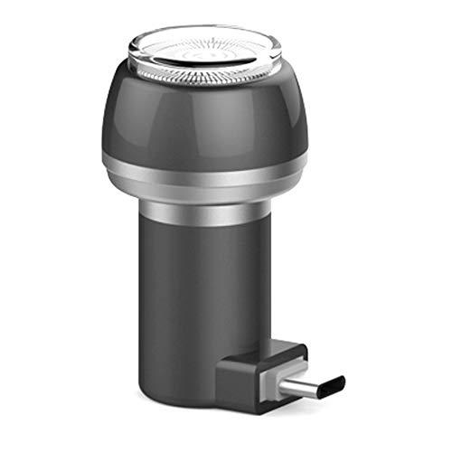 Rasierer Reise AURUZA USB Magnetische Handy Elektrorasierer Mini Tragbare Taschenrasierer Magnetsauger Epilierer mit OTG für Android USB+Micro