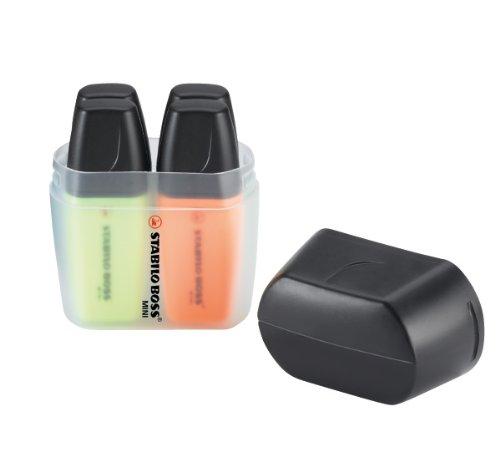 Marcador fluorescente STABILO BOSS Mini – Estuche BOSS mini Box con 4 colores