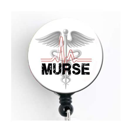 Eye roll badge reel nurse medical sarcastic RBF