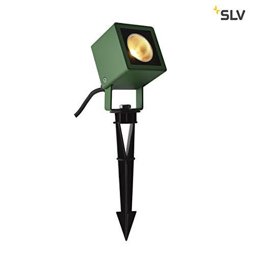 SLV NAUTILUS 10 Spike, LED Outdoor Erdspießleuchte, grün IP65 3000K, 45° Leuchte, Aluminium, 8.5 W