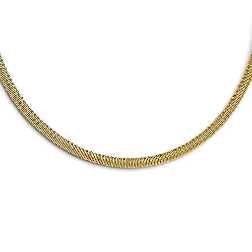 Acero inoxidable Amarillo IP-plated con textura con 1.5pulgadas ext. Collar–51centímetros