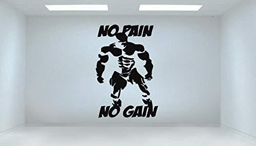 CECILIAPATER Sticker Mural pour Chambre à Coucher, entraînement, Gym, Fitness, Crossfit, Musculation, 113 m