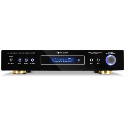 Auna AV1-AMP-9200-B - Amplificador envolvente 5.1 de 600 W (con receptor de radio), negro