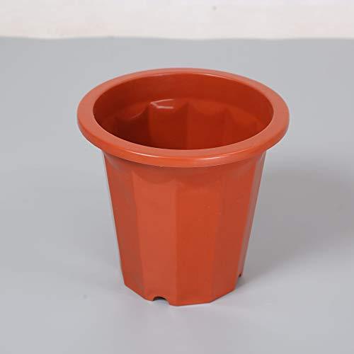 Jardineras Exterior Balcon Macetas, PequeñAs Maceta, 5 Paquetes Resistente A La CorrosióN, Ahorra Agua Y Resistente A La SequíA, Se USA En Interiores O Jardines, Etc,Brown Red,E240*5