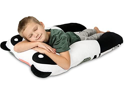 MAKOSAS KomfortKissen Gesundheit Kinder Kissen für Bett Schlafen | Anti-Stress | ADHS Kissen Kinder (Panda)