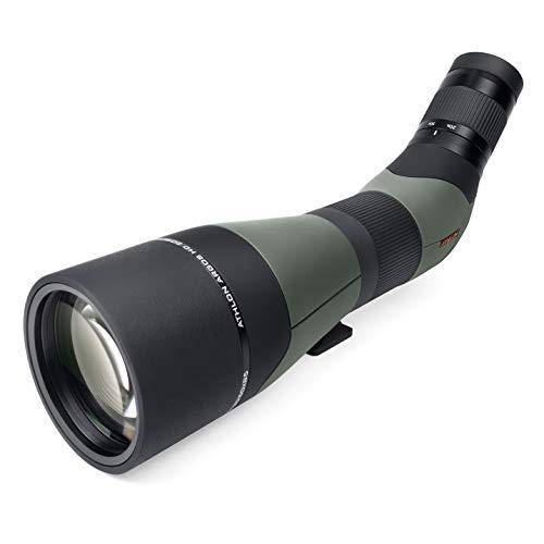 Athlon Optics Argos HD 20-60x85 Spotting Scope - 45 Degree, Green/Black