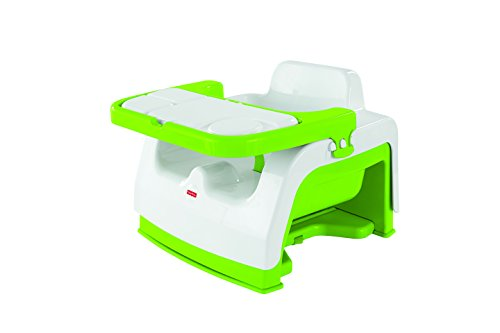 Fisher-Price-0887961278514 Disney Trona, Color Verde, Blanco (Mattel DMJ45)