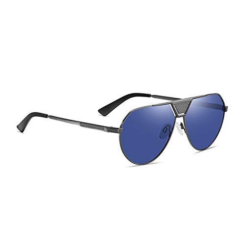 Óculos Aofly AF8339 metal polarizado óculos de sol dos homens design da marca piloto do vintage anti brilho espelho óculos de pesca para o sexo masculino uv400 af8339 (Azul)