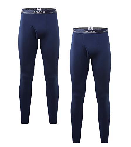LAPASA Herren 2 Pack Leicht Unterhosen M010 Navy Blau s Ultra-dünne MEHRWEG