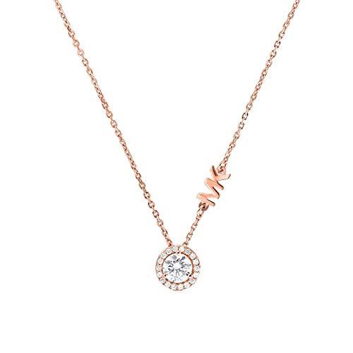 Michael Kors MKC1208AN791 Damen Collier Silber 925 Rose weiß Zirkonia 45 cm