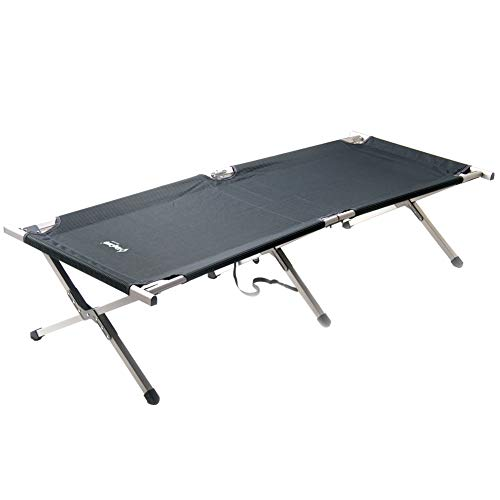 KingCamp Camping Cot for Adults, Lightweight Camping Bed, Sturdy Aluminum Folding Bed with Carry Bag, Portable, Durable for Hiking, Camping, Travel, Hunting, Indoor Emergencies Grey
