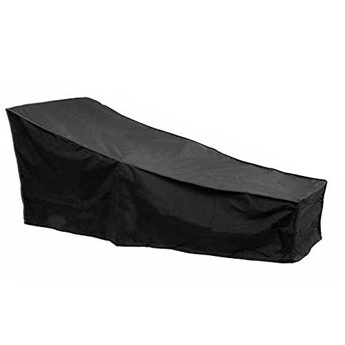S-TROUBLE Tumbona de Playa al Aire Libre Cubierta de la Tumbona Impermeable Anti-UV A Prueba de Polvo Tela Oxford Bolsa Protectora para Muebles de jardín y Patio 200 * 68 * 70cm