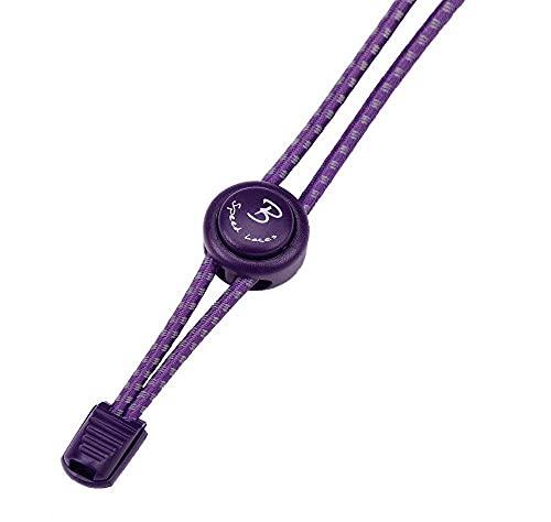 Bernit Schnürsenkel ohne binden ? reflektierende elastische Schnürsenkel mit Schnellverschluß ? Schnellschnürsystem Kinder ? anpassbare Länge 120 cm (lila)