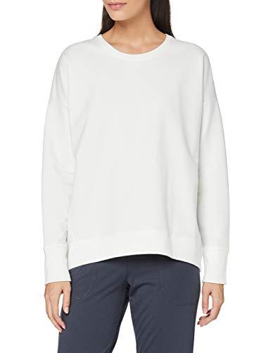Marc O'Polo Body & Beach Mix W-Shirt LS Crew-Neck Camiseta de Pijama, Blanco Hueso, L para Mujer
