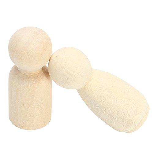 Tutoy 40pcs Mujer Hombre de Madera Hombres Peg muñecas Figuras Pastel de Boda decoración Superior