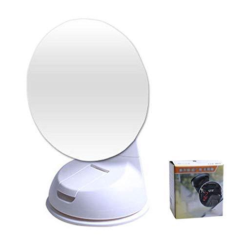 HYM Taza De SuccióN para El Espejo del Auto para Bebé, Espejo Retrovisor del Coche, Seguridad Y Gran Angular Giratorio De 360 Grados,white85mm