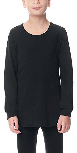 Timone Jungen Langarm Unterhemd (Schwarz, 164)