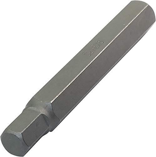 AERZETIX - Juego de 2 Puntas Largas Hexagonal 8mm/Allen 6 lados - L75mm 3/8''(10mm) - para Destornillador/Portapuntas - para Tornillo Allen 6 lados - Ferretería/Herramienta manual - Acero S2 - C45897