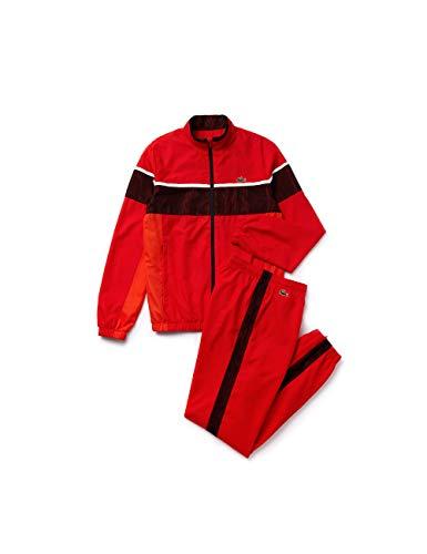 Lacoste Herren Wh4874 Sportswear-Set, Rot (Corrida/Glaieul-Blanc-NOI Y55), Medium (Herstellergröße: 4)