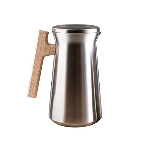 SDREAM Coffee Carafe Thermal For Kettle Stainless Steel 34 Oz Double Walled Vacuum Insulation Hot Beverage or Tea, Sliver, 34 oz