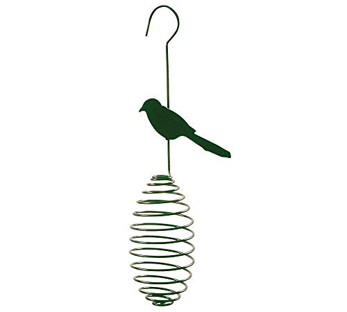 Schöne Futterfeder für Meisenknödel Vogel -Optik Metall grün C