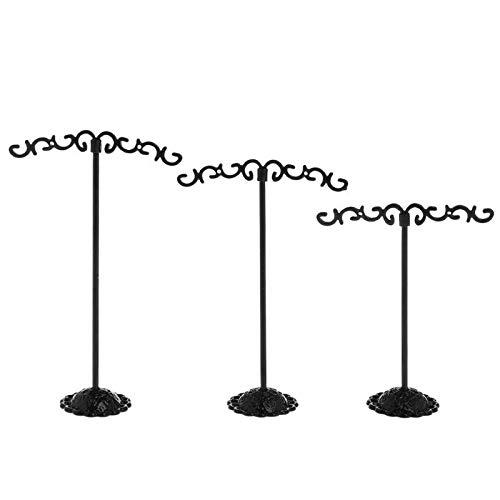 3 unids joyería estante de exhibición soporte soporte soporte pendientes organizador metálico almacenamiento vintage exquisito regalos boutique árbol creativo (Color : 3)