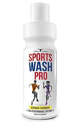 Vollwaschmittel für Outdoor,- Sport- & Funktionskleidung mit Geruchsentferner | Waschmittel für Sportbekleidung | Mikrofaser Sportwaschmittel | SPORTS WASH PRO | URBAN FOREST (1L) (ATHENS SUMMER)