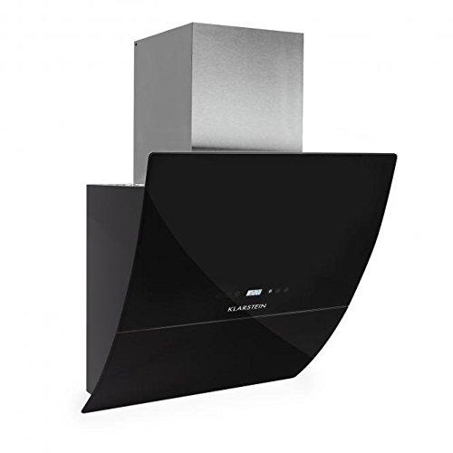 Klarstein Annabelle Eco 60 afzuigkap, stahoogte kap, 60cm, energieklasse A, afvoerlucht/recirculatielucht, 3 vermogensniveaus, afvoerluchtoutput: 650 m³/h, afstandsbediening, touch, zwart