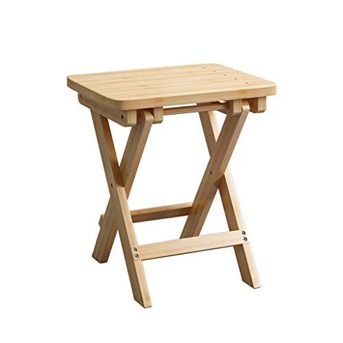 JIAX Bamboe vouwstoel, bamboe, lichte voetenbank, stoel anti-slip badkamer douchestoel, volledig gemonteerd, binnen en buiten 17