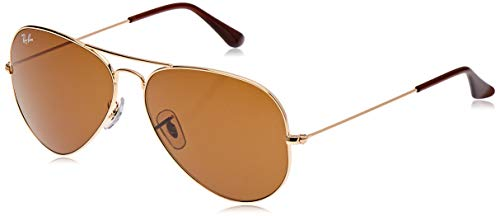 Ray-Ban - Gafas de sol Aviador RB3025 Aviator metal, Gold