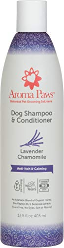 Aroma Paws Dog Shampoo – Cleansing Wash, Conditioning, Moisturizing – Toxin Free, Healthy Ingredients – Aromatic Grooming Puppy Shampoo – Tearless Cleaner, Lavender Chamomile