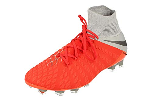 Nike Hypervenom 3 Elite DF Fg, Scarpe da Fitness Unisex-Adulto, Multicolore (Lt Crimson/Mtlc Dark Grey/Wolf Grey 600), 40.5 EU