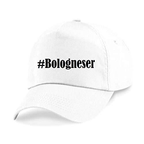 Reifen-Markt Base Cap #Bologneser Größe uni Farbe Weiss Druck Schwarz