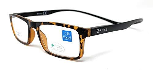 Gafas de lectura, presbicia, vista cansada, Diseño en Colores. VENICE Neck Iman - Dioptrías: 1 a 3,5 (Demi, 2.00)