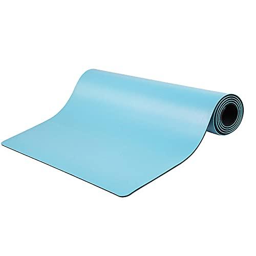 colchoneta deporte antideslizante Esterilla de caucho natural,estera de Pilates sport-Extra ancha183cm x 68cm,5MM (AZUL)