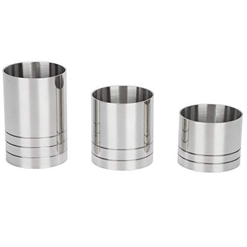 Ladieshow - Juego de vasos de acero inoxidable para cócteles y bebidas, taza medidora de onzas, herramienta de barman (25 ml/35 ml/50 ml)