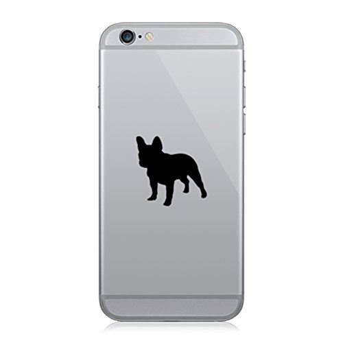 RDW Pair of French Bulldog Cell Phone Stickers Mobile Dog Canine Frenchie - Matte Black