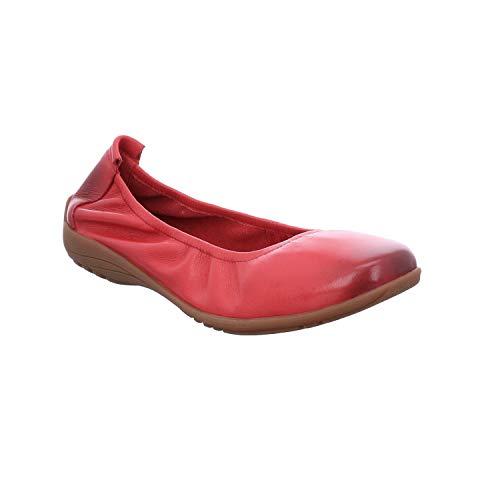 Josef Seibel Damen Ballerinas Fenja 01, Frauen Klassische Ballerinas, sportlich weiblich Lady Ladies feminin elegant Women's Women,Rot,39 EU / 5.5 UK