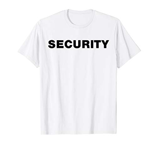Security Guard Event T-Shirt or Costume