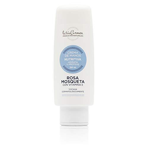 La Tía Carmen - Crema Regeneradora - Crema para Manos Rosa Mosqueta - 150 Ml - Hidrata y Regenera la Piel - Crema con Vitamina E - Productos Naturales