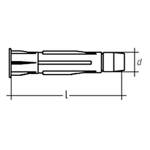 JD-Allzweckdübel mit Bund Mat. Polyethylen (PE) WST PE 12 x 70-50 Stück