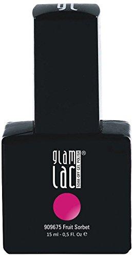 GlamLac Vernis à Ongles Gel UV Semi-permanent Fruit Sorbet 15 ml