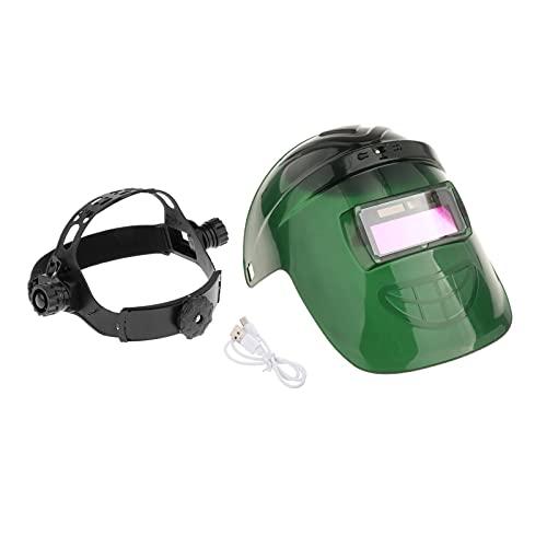 perfeclan Casco de Soldadura Solar Oscurecimiento Automático Casco de Soldadura Máscaras Protector de Ojos con Ventilador