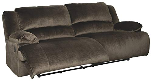 Signature Design by Ashley - Clonmel Contemporary 2 Seat Oversized Reclining Sofa, Dark Brown