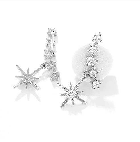 ERN S925 Silbernadel Sechs Sterne Stern Markisen Ohrringe Temperament Persönlichkeit Kleine Sechs Sterne Sterne Sterne Silber Nadel Ohrringe Mode Ohrringe Weiblich 02