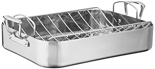Cuisinart MultiClad Pro Stainless 16-Inch Rectangular Roaster with Rack