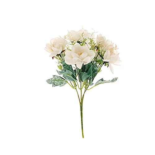 BalsaCircle 3 Cream 11-Inch Silk Peony Bushes Artificial Flower Bouquets - Wedding Party Events Reception Home Decorations Supplies Supplies
