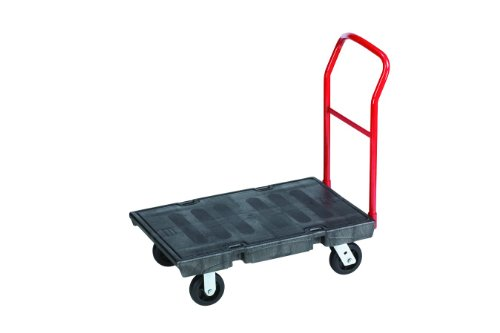 "Rubbermaid Commercial 4403BLA Heavy-Duty Platform Truck Cart, 500 lb Capacity, 24"" x 36"" Platform, Black"
